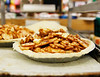HOLLY PELCZYNSKI - BENNINGTON BANNER Apple Pies wait to be baked, bought and served at Willy's Variety Store & The Bakery at Willy's Variety. Willy's offers three pies to customers. Apple pie, pumpkin pie and a minced meat pie by request.