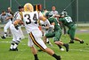 (60) Doug Creech, (33) Schutler Streber - September 23, 2006 - Baldwin-Wallace Yellow Jackets at Wilmington Quakers