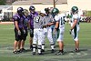 The Coin toss with team captains (15) Chad Otte and (6) Doug Creech - September 16, 2006 - Wilmington Quakers at Capital Crusaders