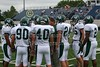 (81) Jesse Parthemore, (90) Michael Durbin, (40) Nathan Davis, (24) Brandon Heim, (46) Zak Werner, (2) Larmont Lawson and Coach Brian Yauger - September 2, 2006 - Wilmington Quakers at Mount Saint Joseph Lions