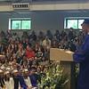 Class president Deven Langenfeld addresses the graduates.