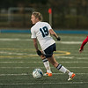 Wilmington High School girls soccer team played Burlington High School at home on Monday night. WHS's Olivia Wingate controls the ball as she looks for a teammate to pass to. SUN/JOHN LOVE