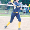 Corey J. Corbin/NEWS<br /> Wilmington's Ashley Houk fires a throw to first base.