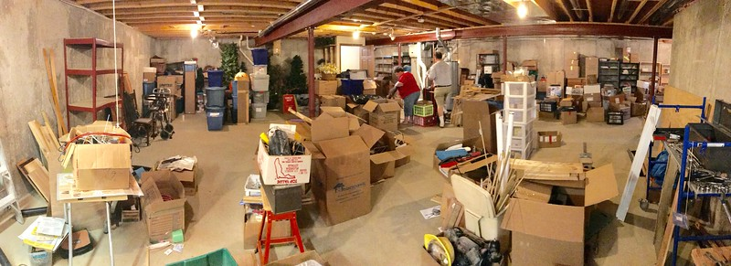 My sister and her husband just moved into a new house. Now THAT'S a big basement!