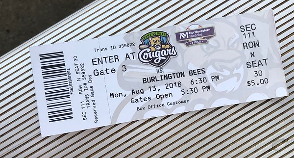 Tonight's opponent would be the Burlington Bees, an affiliate of our Los Angeles Angels of Anaheim.