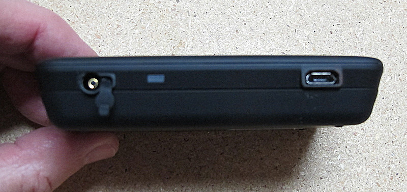 Showing the cable connection (left).