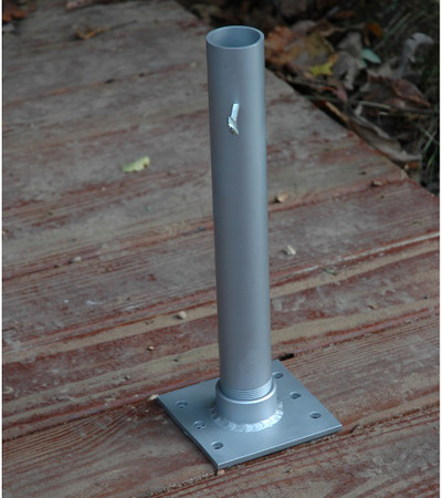 Flagpole holder / $33.99. Also purchased two self-piloting steel screws from Ace Hardware.