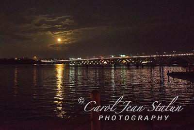 Strawberry Moon over Wilson Bridge