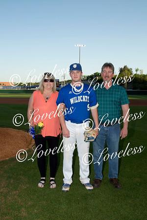 Baseball Senior Night 4/30/18
