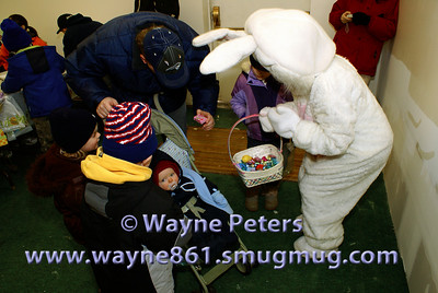 The Easter Bunny and some children.