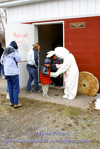 The Easter Bunny makes a great doorman.