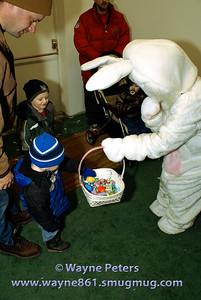 Have some candy from the Easter Bunny, young man!