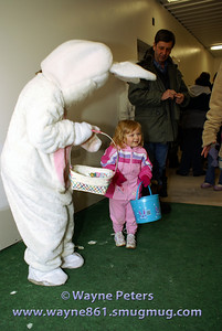 I saw the Easter Bunny!