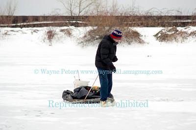 Ice fishing in Wilson Harbor