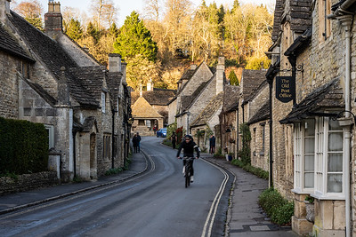 Castle Combe cyclist