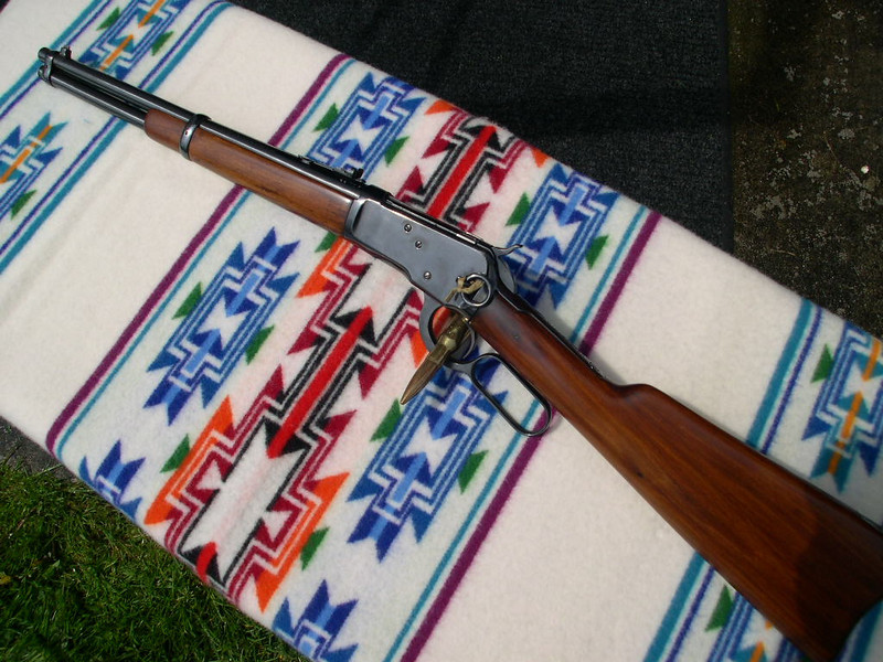 "Winchester Model 1892 in 44 WCF (caliber 44-40)....16"" barrel length...Serial Number 858025...Manufacture Date 1919...<br /> <br /> Click on any of the small pictures on the left to move them to the right. Once they are on the right, place your pointer on the picture and a transparent window will open, from that window you can choose other size options to view the pictures at...."