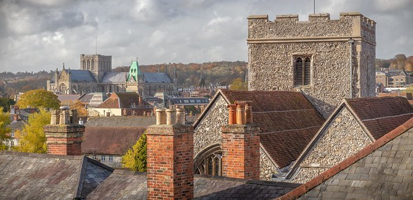 City view - across the rooftops from Magdalen Hill