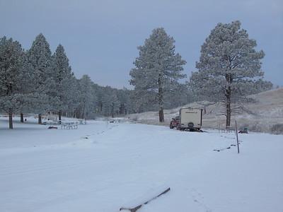 Winter Solitude with Comfort, Elk Mountain Campground