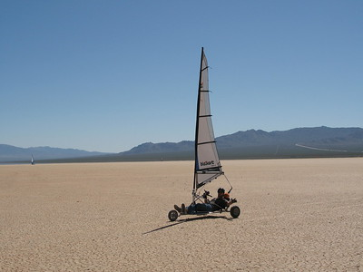 brother Joe Irby tries the blokart.