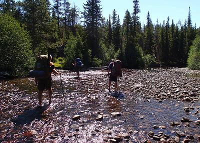 Crossing the North Popo Agie River.  = = = = = https://goo.gl/maps/URAsPaKgLk12