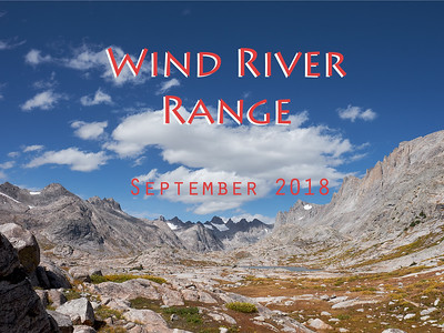 In September 2018, Peter and I spent a week traversing a fifty-plus mile section of Wyoming's Wind River Range. From Green River Lakes, we trekked up to the Continental Divide - but did not cross it - and continued along it until Titcomb Basin, the entrance to which you see above. Seven days and six nights at five campsites dotting the base of the Divide. We hiked out via Hobbs Lake to Elkhart Trail As happy as one could imagine.