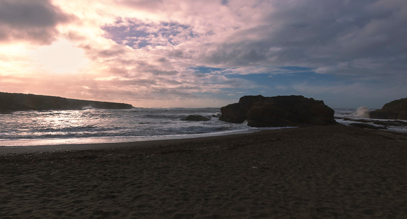 cove at sunset