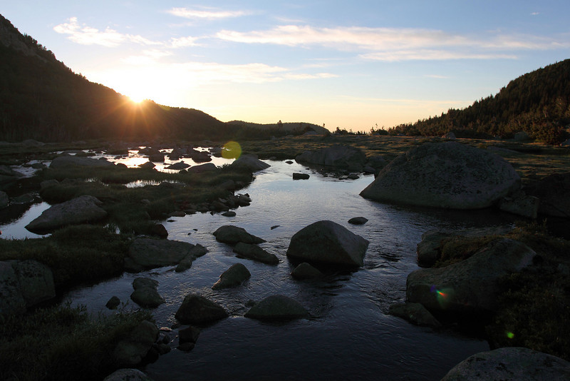 Deep Creek flowing through glacial moraine out of Deep Creek Lakes