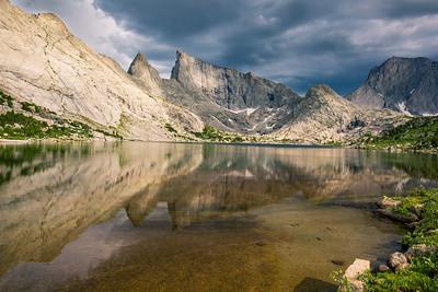 Storm Over East Temple Peak, Temple Peak, and Deep Lake, Wind River Range, Wyoming