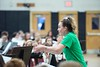 KELLY FLETCHER, REFORMER CORRESPONDENT -- Kate Karter directs the Oak Grove School Band at the 33rd annual All District Band concert on Wednesday in the BUHS gymnasium.
