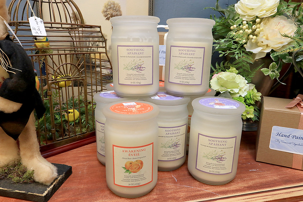 . Windmill Florist & Gifts in Ashby, March 29, 2019. They sell many types of candles in the shop. SENTINEL & ENTERPRISE/JOHN LOVE
