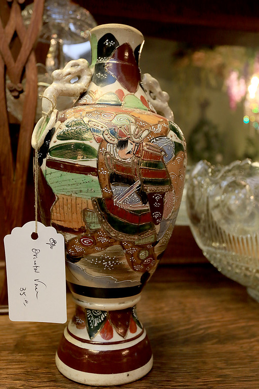 . Windmill Florist & Gifts in Ashby, March 29, 2019. This is an oriental vase for sale in the shop. SENTINEL & ENTERPRISE/JOHN LOVE
