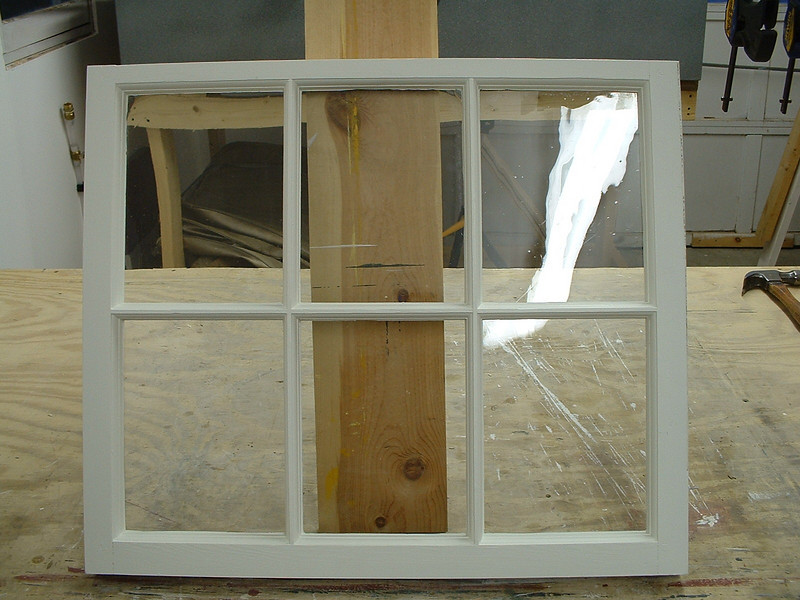 Six-light sash AFTER full restoration.