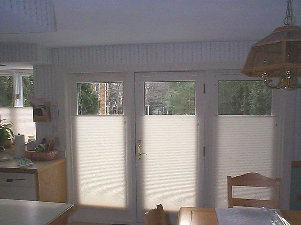 Top Down / Bottom Up Shades on French Doors
