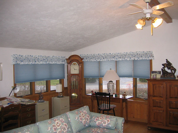 Duettes under shirred valances