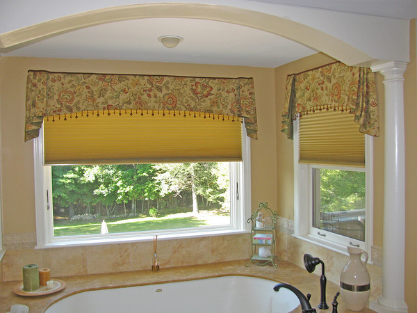 Top Treatments over Motorized Duette Shades