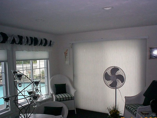 Duette VertiGlide Shade on a Sliding Door
