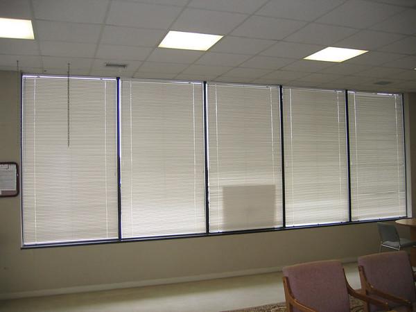 Mini blinds (closed)