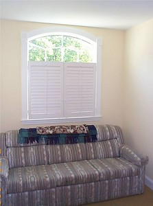 Plantation shutters, 3/4 height.