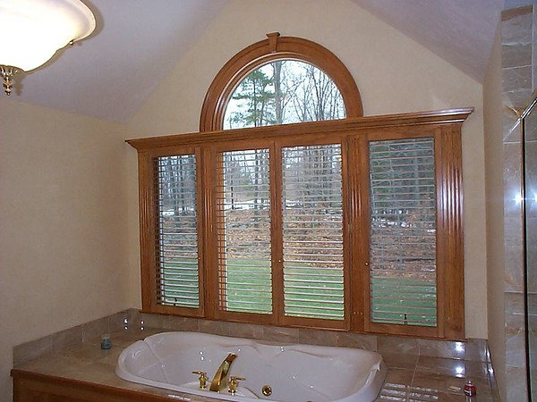 Plantation shutters, open for light