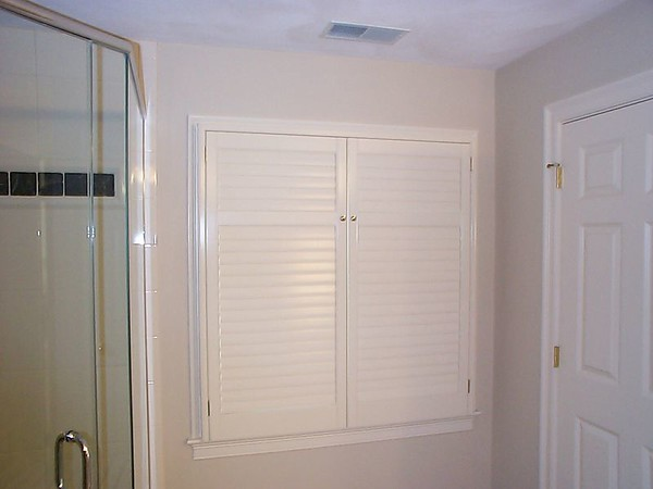 Plantation shutters, all louvers closed