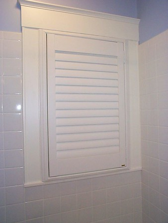 Palm Beach Polysatin shutter, for shower or other wet areas