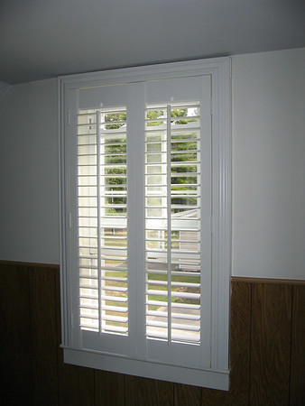 Framed Plantation Shutters, open