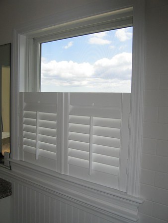 Cafe Shutters with louvers closed
