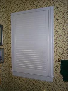 Plantation shutters, closed