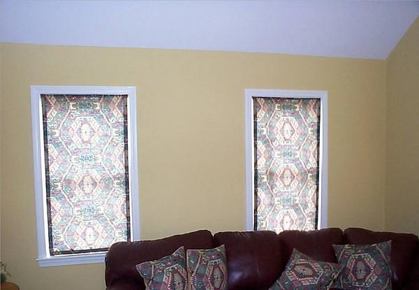 Roman shades & matching pillows