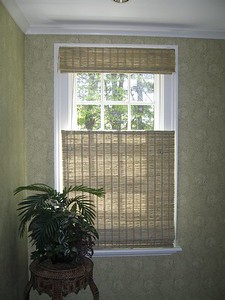 Woven Wood shade with Top/Down, Bottom/Up option