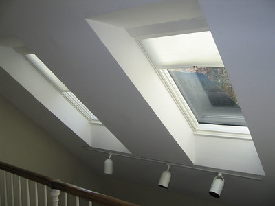 SkyRise cellular light filtering shades in skylights