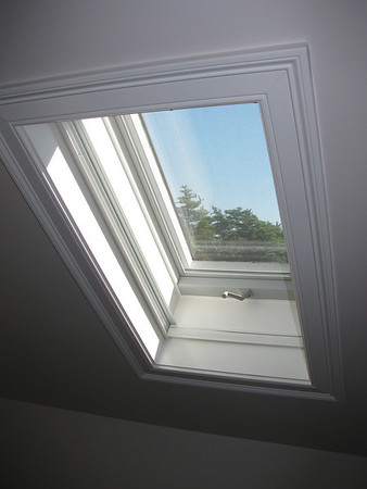 Simplicity Skylight Shade, raised