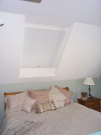SkyRise Skylight shades in bedroom