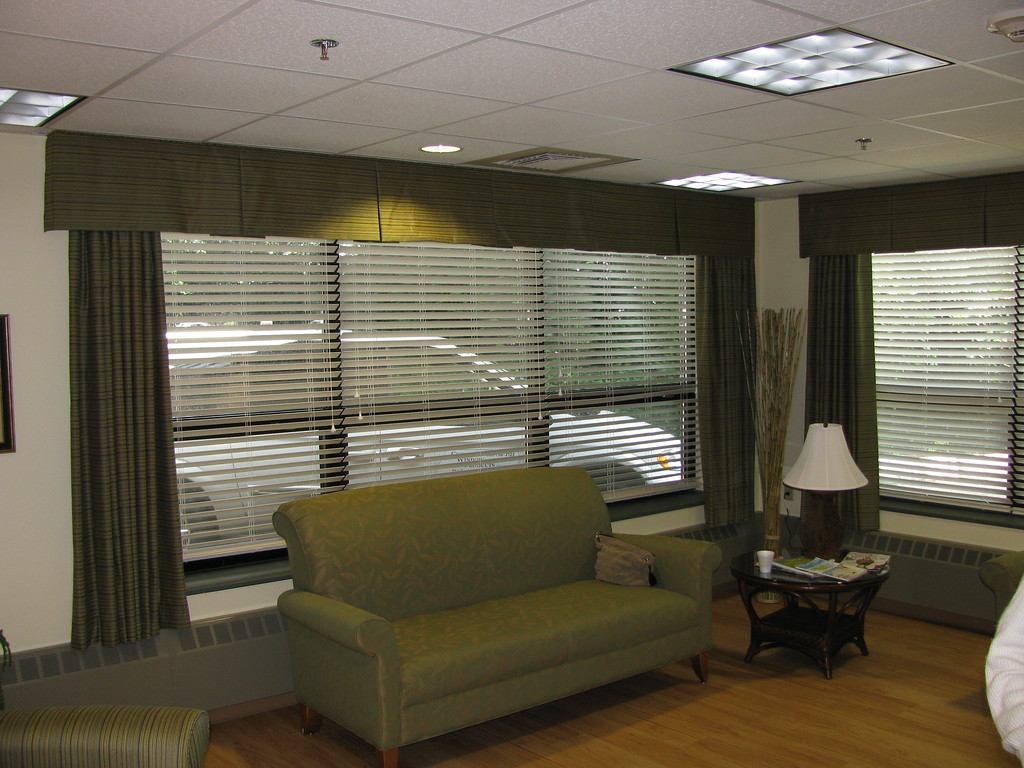 "Valances & Panels over 2"" Wood Blinds"